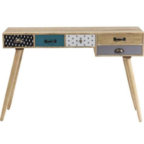 console bureau bureau console petit bureau blanc lepolyglotte