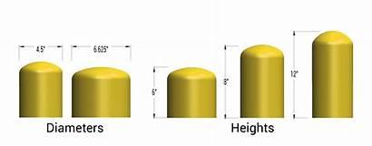 Bollard Caps Sizes Bollards Standard Diameter Cap