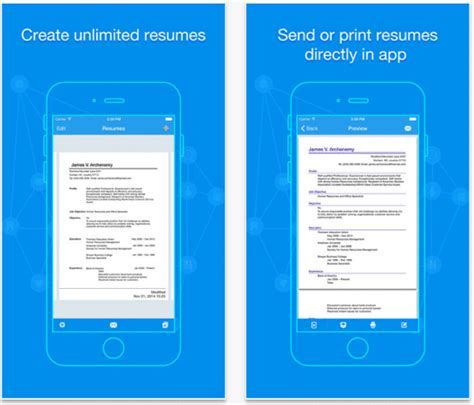 Resume Building App by 7 Best Resume Apps For Android And Ios Updated 2018