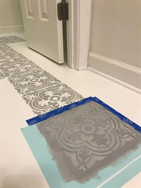 Floor Tile Paint For Bathrooms by How To Paint Your Linoleum Or Tile Floors To Look Like