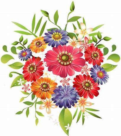 Clipart Flower Bouquet Bunches Cliparts Clip Flowers