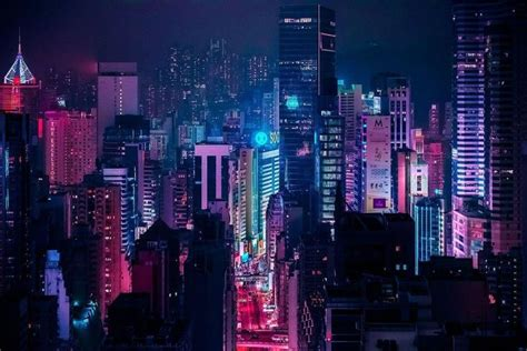 aesthetic city lights aesthetic backgrounds