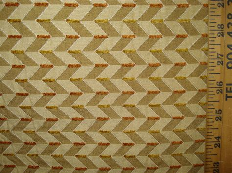 Gold Woven Geometric Upholstery Fabric