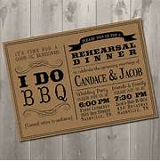 I DO BBQ Wedding Rehearsal Dinner Invitation DIY Printable I Do BBQ Wedding Reception Invitation Wedding 171 I Do Bbq Invitations I Do Bbq Announcements Printable Rustic BBQ Couples Wedding Shower 4x6 By