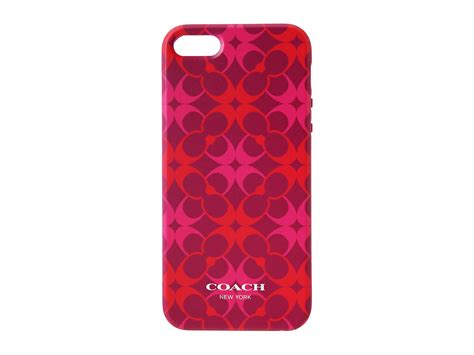 coach iphone coach iphone 5 in waverly signature print shipped