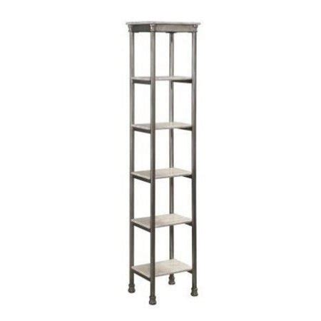 Bookcase Tower by Atlin Designs 5 Shelf Tower Bookcase In Gray And Marble