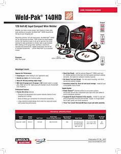 Lincoln Electric 140hd K2514 1 Users Manual Wire Feeder Welder