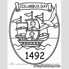Columbus Day Coloring Pages Images 20162017  B2b Fashion