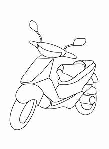 Coloring Pages - Scooter