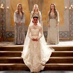 Anything everything something in between vvhovian for Reign mary wedding dress