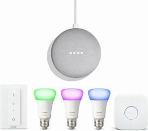 Buy PHILIPS Colour Ambiance E27 Starter Kit & Google Home ...