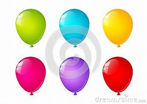Bright Color Balloons White Background Royalty Free