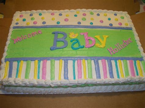 Baby Shower Sheet Cakes For by Adorable Gender Neutral Baby Shower Sheet Cake