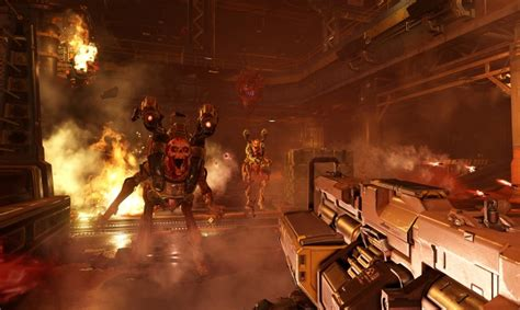 Provided that you have at least an amd radeon hd 7870 graphics card you can play the game, but id software recommend an nvidia geforce gtx 970 or better to run the game at its best to meet the doom system requirem DOOM 2016 HD PC Screenshots | OC3D News