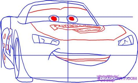 Step 4. How To Draw Cars Lightning Mcqueen