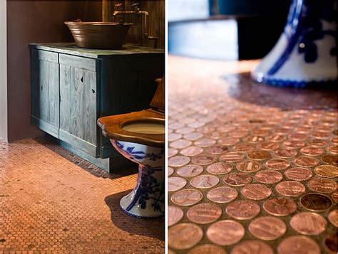 floor l diy diy copper penny floor interiorholic com