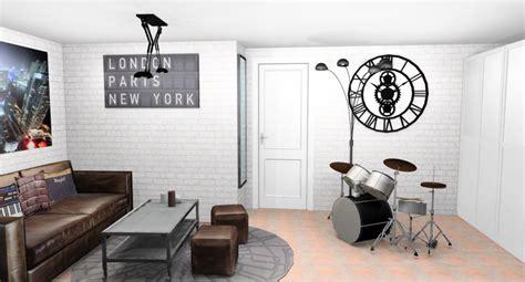 canapé conforama loft deco chambre ado papier peint visuel 5