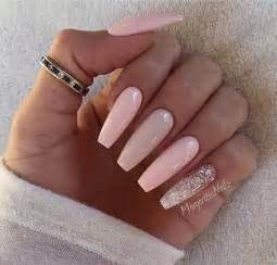 Nail art ideas for coffin nails peach gel