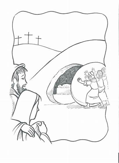 Tomb Jesus Coloring Empty Pages Lazarus Burial