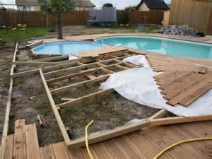 terrasse et piscine bois
