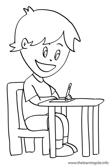 Write - Free Colouring Pages
