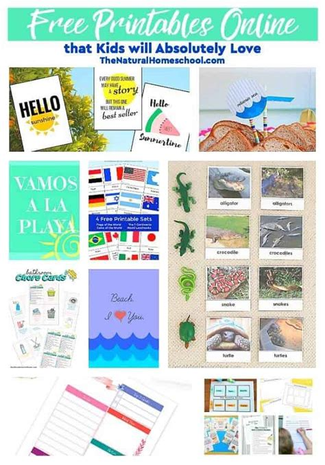 Free Printables That Will Absolutely The Homeschool
