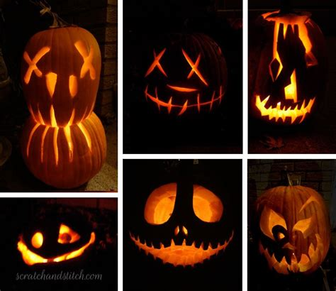 halloween pumpkin carving ideas scratch  stitch