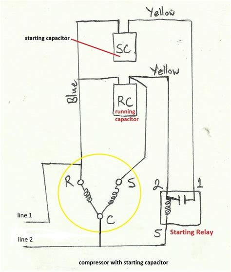 Phillip Wire Diagram by Start Capacitor Wiring Diagram In Starting Hvac