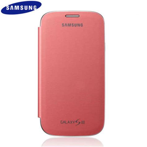 Flip Cover Samsung S3 genuine samsung galaxy s3 flip cover pink efc