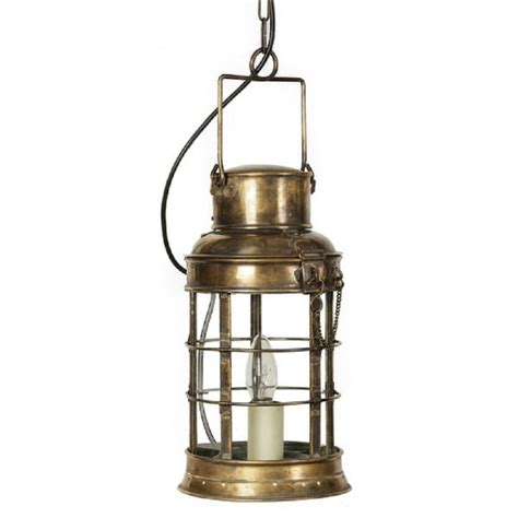 Traditional Victorian Watchmans Lantern Pendant In Light