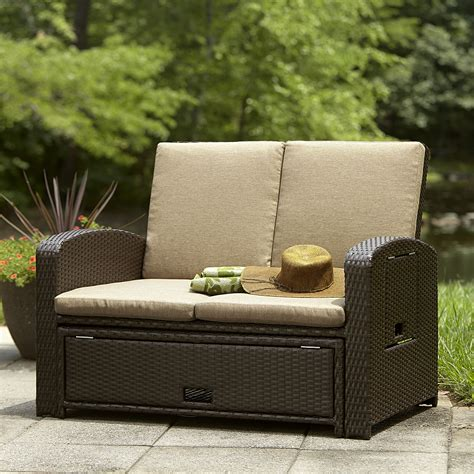 convertible outdoor sofa chaise lounge ty pennington style bowman convertible love seat lounge bed
