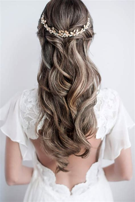 35 half up half down wedding hairstyles ideas my stylish zoo