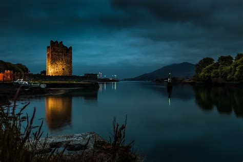 narrow water castle visual imagery