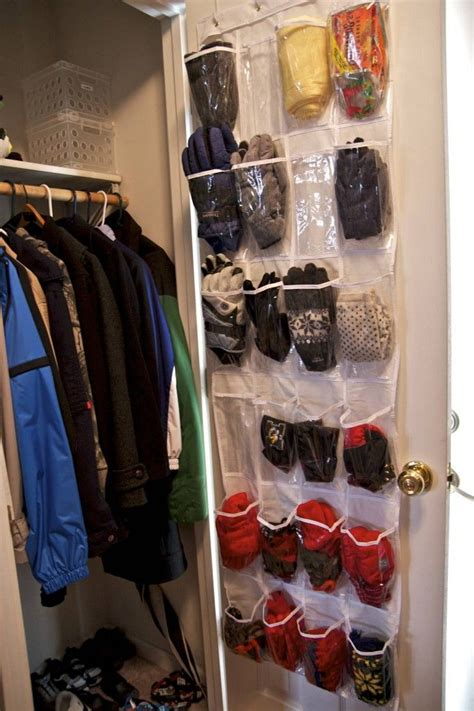 a pocket shoe organizer works great for holding all our