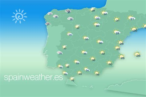 Spain Weather Forecast Map