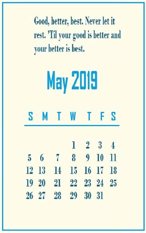motivational quotes calendar template