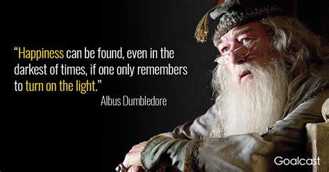 Dumbledore Light Quote by Top 15 Most Powerful Dumbledore Quotes