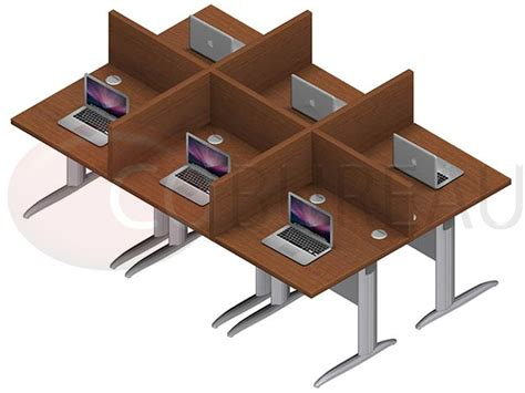 marguerite bureau marguerite 6 postes droit identiques en largeur plateaux