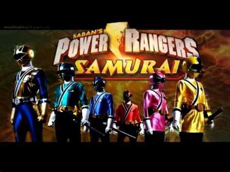 power rangers samurai theme short instrumental youtube