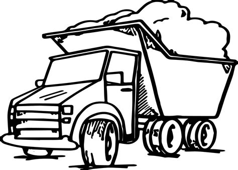garbage truck coloring page garbage truck coloring page wecoloringpage