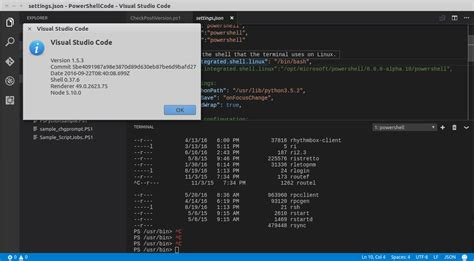 Vs Code Running Powershell