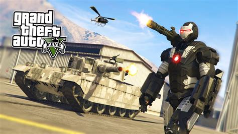 War Machine Iron Man Mod!!! Gta 5 War