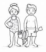 Coloring Outline Human Bathing Suit Anime Drawing Female Clipart Bikini Swimming Boy Swimsuit Preschoolers Template Printable Worksheet Clip Sketch Getdrawings sketch template