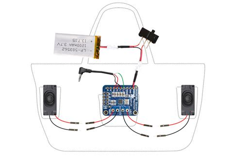 Circuit Diagram Boombox Beach Bag With Audio Amp