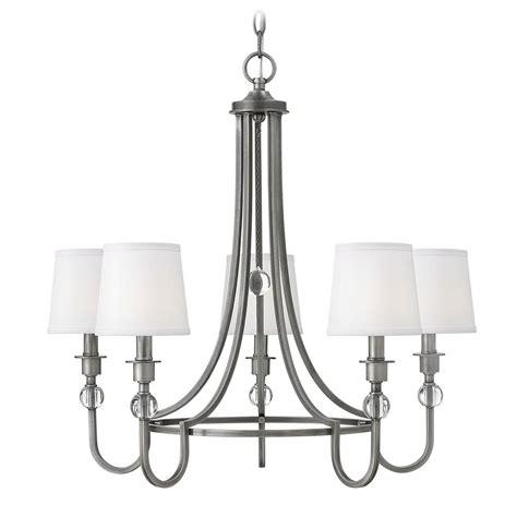 antique nickel chandelier hinkley lighting antique nickel chandelier 4875an