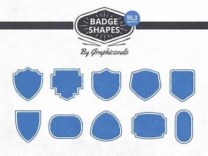 Badge Shapes Vol Badges Dribbble Retro