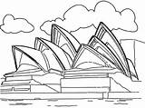 Coloring Landmarks Pages Opera Famous Landmark Sydney Australia Around Building Tower Drawings Historical Sidney Collection Drawing Printable Cn Colouring Site sketch template