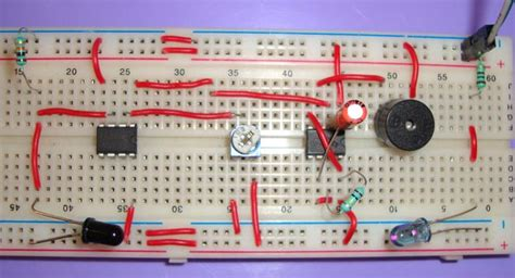 Infrared Based Security Alarm Circuit Using Timer