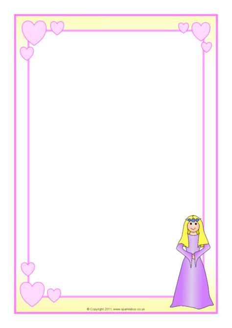princess themed  page borders sb sparklebox