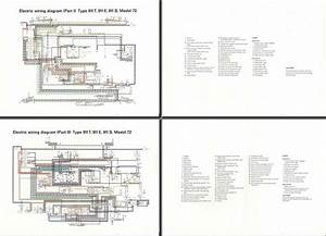 Electric Wiring Diagram 911  1972